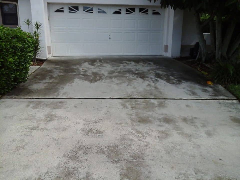 Concrete Driveway without sealer, Fort Myers Pressure Washing, Naples Pressure Cleaning, Bonita Springs Pressure Cleaners, Cape Coral Pressure Cleaners, Fort Myers Paver Cleaning and Sealing, Naples Paver Cleaning and Sealing